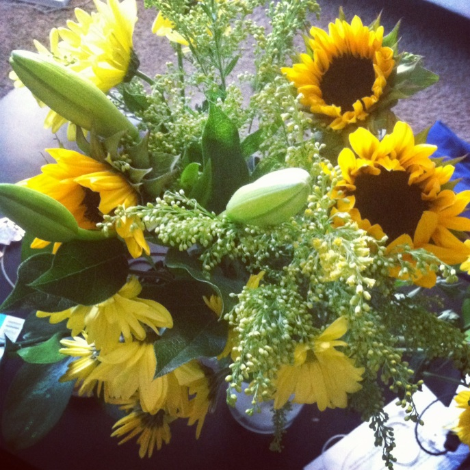 Sunflowers from my boo! Woo!