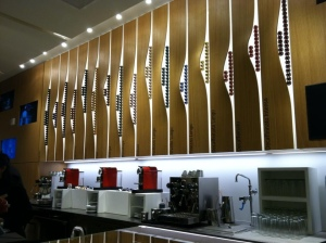 Bar at the Nespresso Boutique